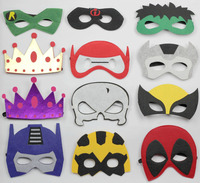 100pcs Felt Mask Hallown Mask Costume Mask Kids Costume Accessories Batman Elsa Anna Deadpool Tmnt Starwars