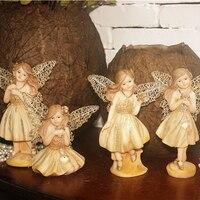 [Nouveau] Européenne or ornements Ameublement, fleur Fée Fille D'anniversaire Cadeau Ange décoration,