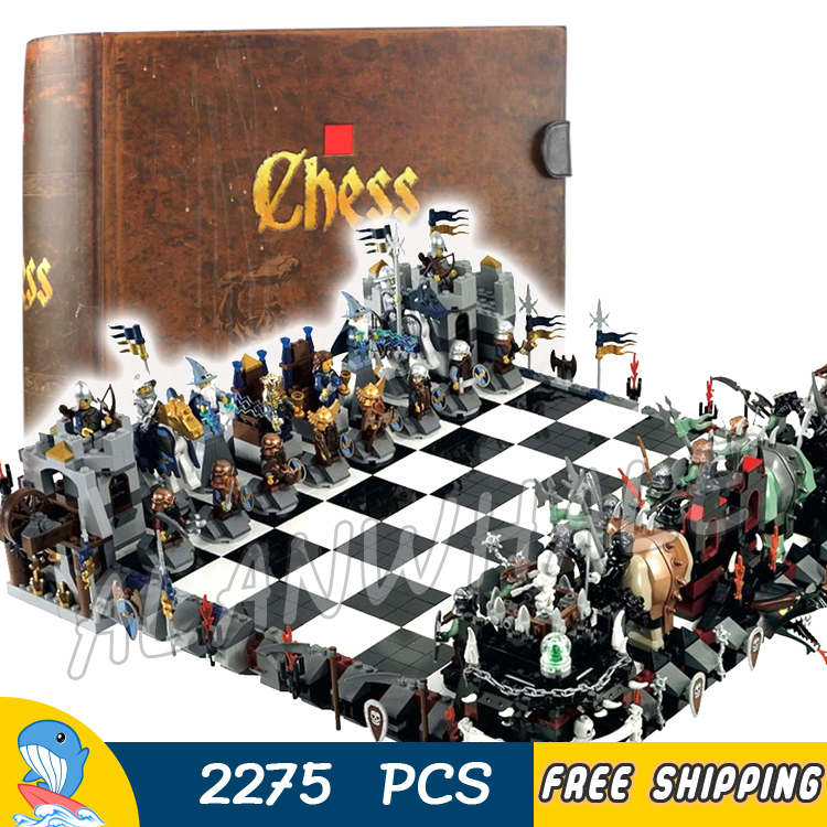 2275pcs Magic Castle Giant Chess Collection Knights Kingdoms 16019 Model Building Blocks Assemble Toy Brick Compatible With Lego