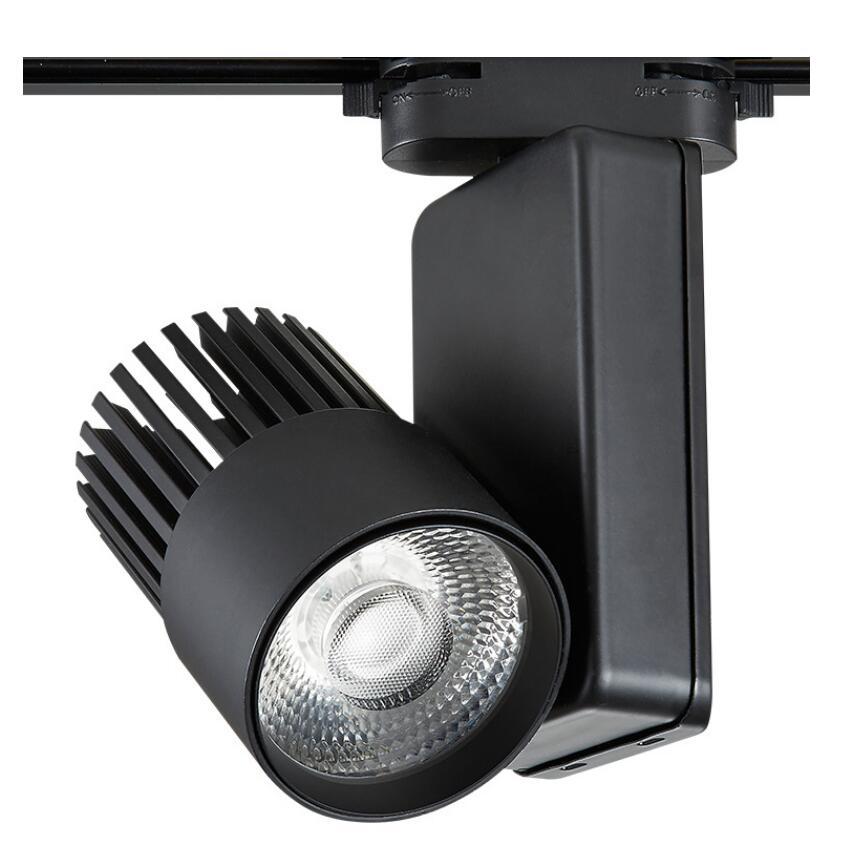 ФОТО 10pcs/lot AC85V-265V 30W 40W COB LED track light COB Track light clothing store track spot lighting high bright federal SNYKA
