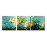 5 панелей цветок жизни современная живопись ручная роспись стены искусства Декор интерьера дома аксессуары для гостиной подарок