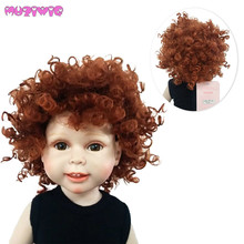 MUZIWIG Heat Resistant Synthetic Classic Afro Curly Doll Wig hair for 18 inch American homemade Dolls Wigs Accessories