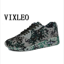 VIXLEO 2017 Men Casual Shoes Air Mesh Suede Leather Shoes Camouflage Green Lovers Lightweight Superstar Zapatillas Footwear