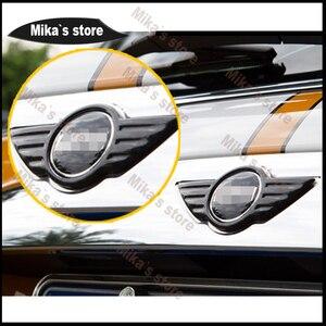 Image 3 - Наклейка с рисунком из углеродного волокна внешняя декоративная эмблема передний старый значок для MINI COOPER F55 F56 F54 автомобильный Стайлинг стикер для тела