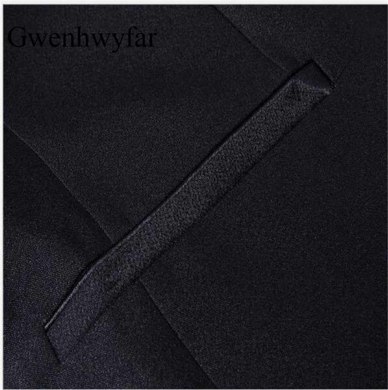 Gwenhwyfarノッチ襟メンズタキシードスリムフィットウェディング結婚式スーツ用男性シングルボタン黒人男性スーツ結婚式の摩耗(ジャケット+パンツ)