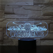 Game World of Tanks Night Light LED Touch Sensor Decorative Lights Children Kids Festival Gift Table Lamp Bedroom