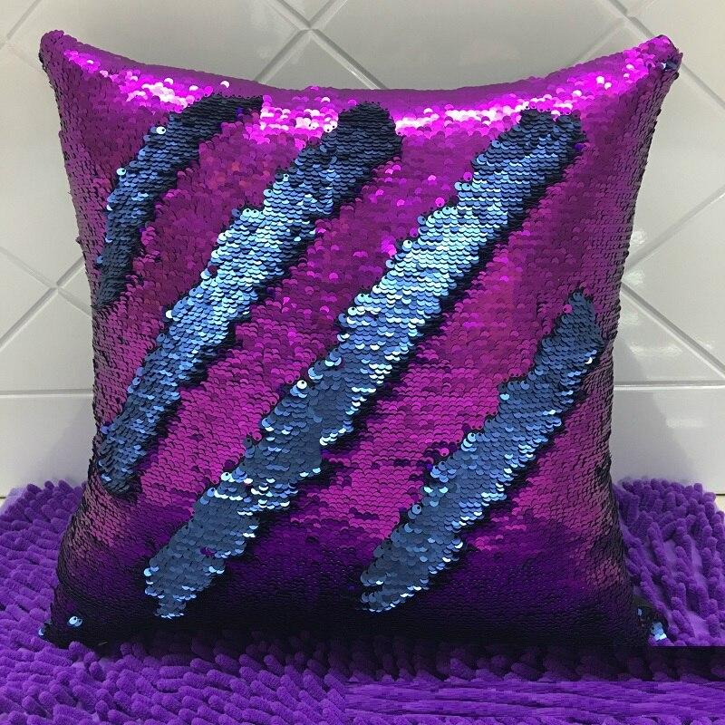 Վերադարձելի Mermaid Sequin Pillow Կախարդական - Տնային տեքստիլ - Լուսանկար 2
