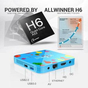 Image 2 - Mini TV Box H96 con Android, TV Box con 4GB de RAM, 128GB de ROM, dispositivo de TV inteligente, Android 9,0, H96mini, Allwinner H6, 2,4/5G, wi fi, compatible con Youtube, 4K