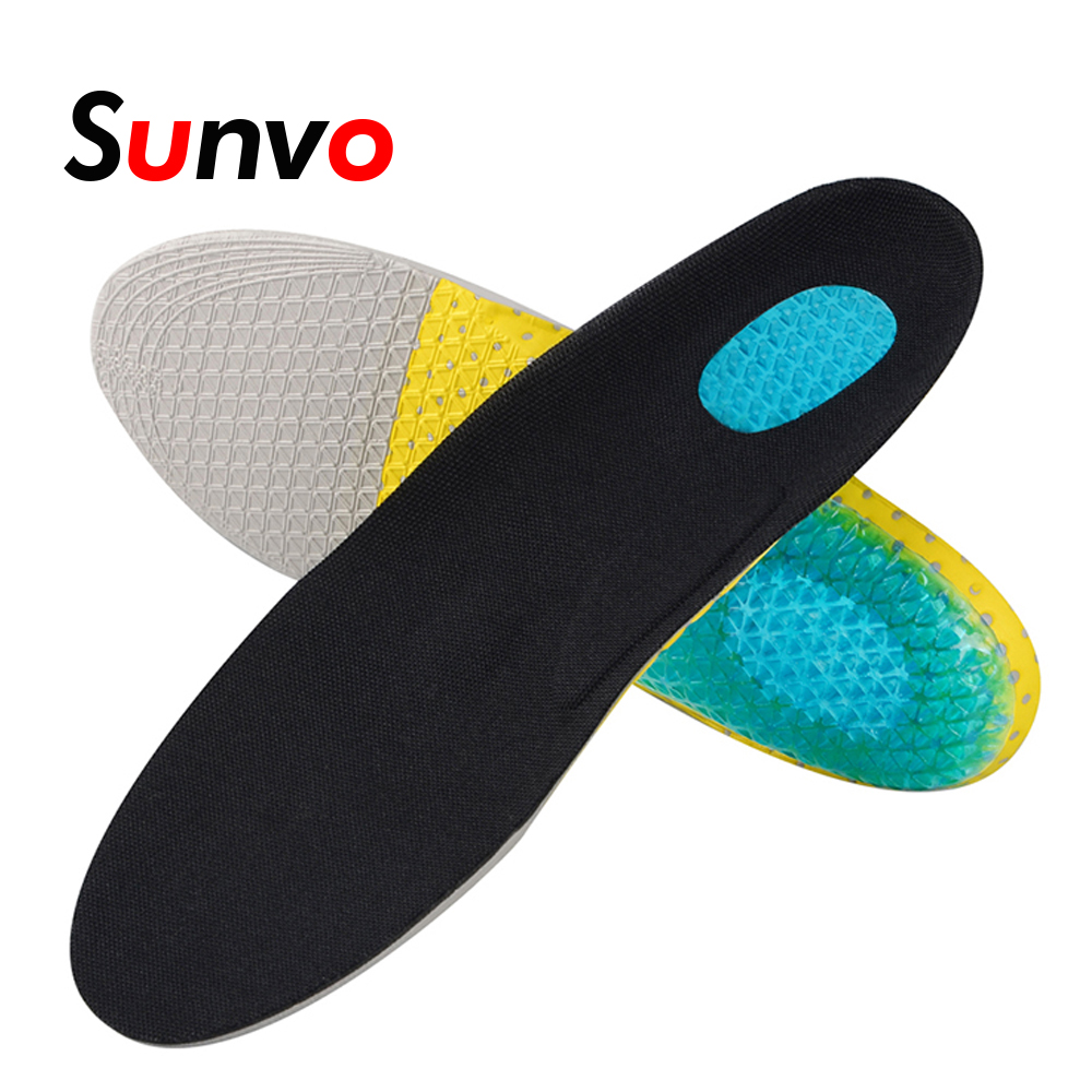 Sunvo Unisex EVA Foam Arch Support Sport Shoe Pad Shock absorption Running Cushion Insoles Plantar Fasciitis Pain Relief Insole image