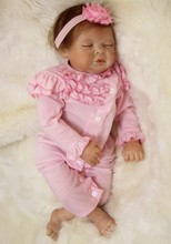 55 cm sleeping babies dolls silicone baby toys alive reborn doll 22 inch for girls children