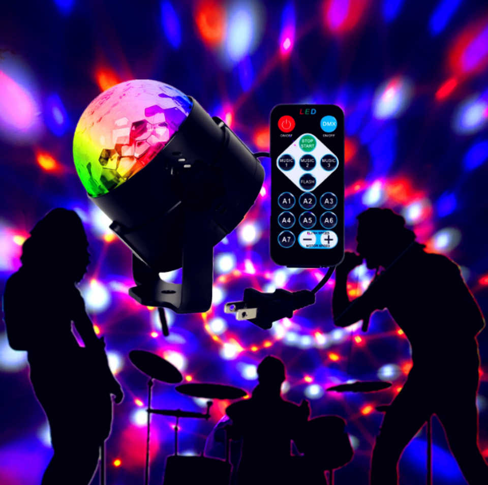 Detail Feedback Questions about 6W led stage light RGB Crystal Magic