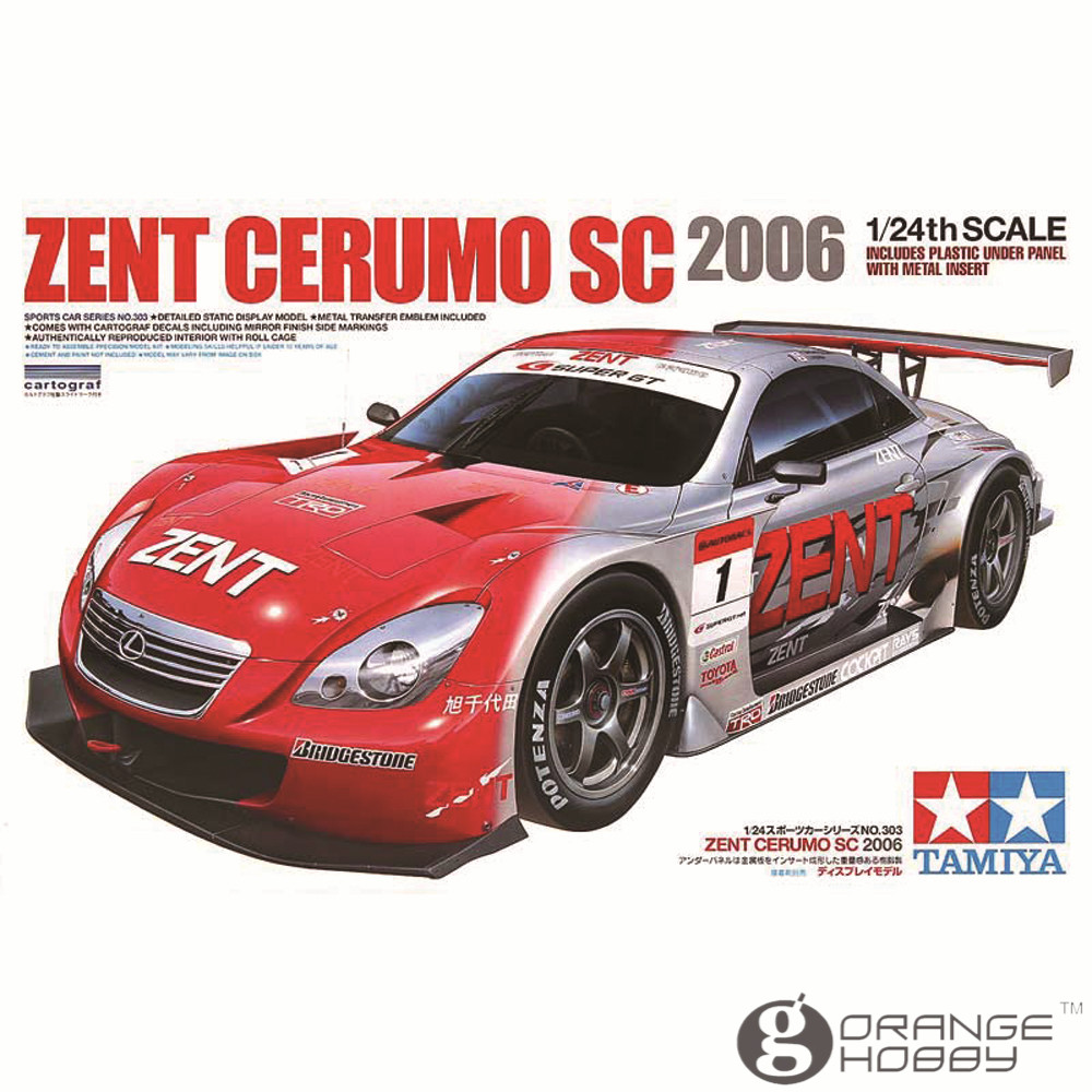 ФОТО OHS Tamiya 24303 1/24 Zent Cerumo SC 2006 Scale Assembly Car Model Building Kits