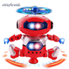 Electric Robot Pet Toy Dancer Robot 360 Rotating Dance Musical Walk Lighten Electronic Toy For Children