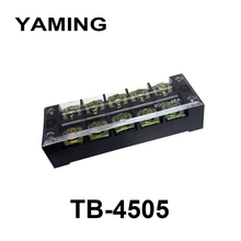 10pcs/lot Connection Terminal Block with 10 screws Plate TB-4505 45A 600V 5 Position TB Series Fixed Type