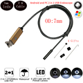 2m Wire Android Endoscope Camera with 7mm Lens 6LED USB Waterproof Endoscope Android Camera Snake Tube Pipe Borescope