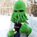 Hecho a mano de Navidad Pasamontañas Animal Cthulu Barbas Pulpo Sombrero gorras Sombreros de Invierno Gorro de Punto Regalos De Halloween Skull Face Mask