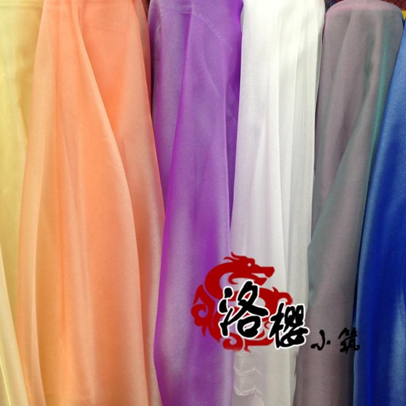 Encryption two-color sheer organza wedding dress veil skirt yarn gauze decoration transparent
