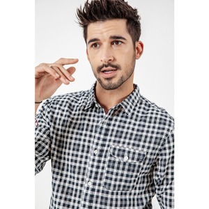 Image 3 - SIMWOOD Brand Casual Plaid Shirt Men 2020 spring Summer High Quality Shirts for men Plus Size High Quality Camisa Male 190164