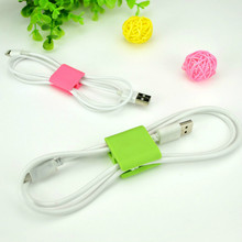 6pcs Korean version of high quality double hole wire winder headphone power cable clips