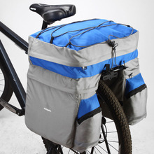 60L Cycling Bike Bag For Bicycle Double Side Rear Rack Tail Seat Pannier Mountain Road Trunk for With Rain Cover