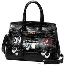 Luxus Druck Cartoon Tasche Damen Crossbody Taschen Nette Crocodile Handtaschen Frauen Umhängetasche Schultertasche Sac
