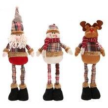 Christmas Decoration Santa Claus Snowman Reindeer Doll Christmas Decoration Xmas Tree Ornaments Pendan Cute Best Gift  JJ042