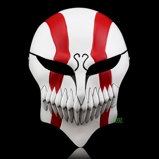 Halloween The God Death Mask Full Face Lchigo Kurosaki Cartoon Editions Of anime Theme Resin Masks Masquerade Party Costume