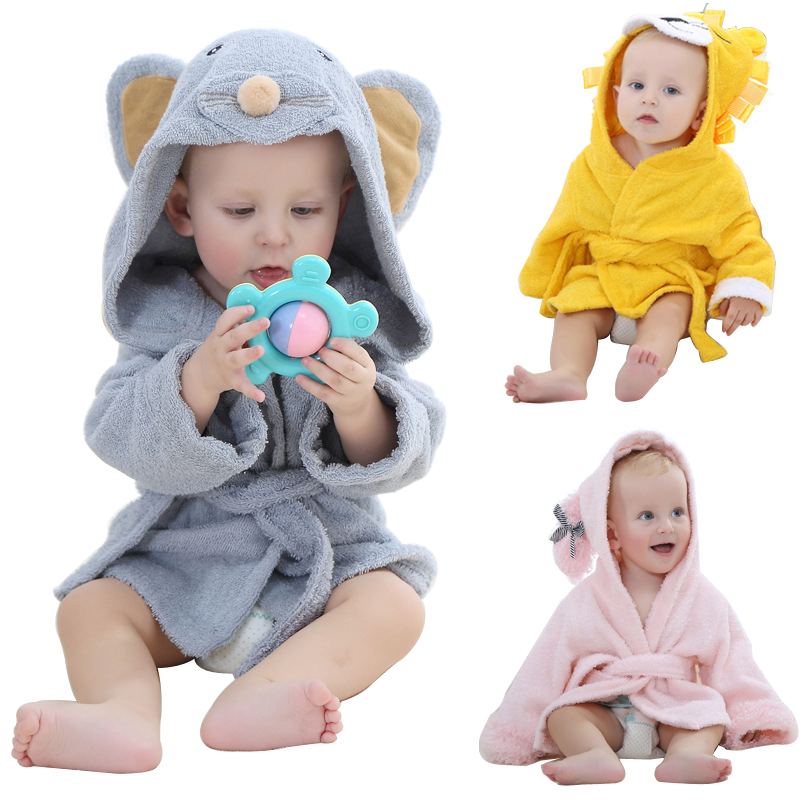 Cotton Newborn Baby Towels Kids Cartoon Animal Hooded Breathable Bath Towels Square Lot Boy Girl Blanket Winter Soft Baby Towels