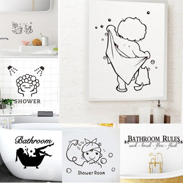 Bathroom Decor Decal Stickers