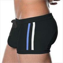 Brand Sexy Men Swimwear Men's Swimsuits Surf Board Beach Wear Man Swimming Trunks Boxer Shorts Swim Suits Gay Pouch size XL