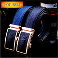 2017 New Fashion top High quality Leather men Belt Automatic buckle crocodile pattern male Belts for men H243 H245