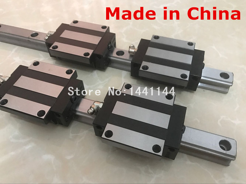 купить HGR25 linear guide: 8pcs HGR25 - 400mm + 8pcs HGW25CA linear block carriage CNC parts по цене 11168.59 рублей