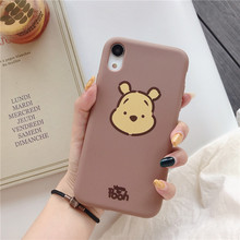 Cute Cartoon lovely bear Head Phone Case For iphone X XS Max XR  Soft TPU Case For iphone 6 6s 7 8 plus Back Cover Case simple cartoon anime puppy phone case for iphone xs max xr 6 6s 7 8 plus candy soft tpu back cover puppy wireless earphone case