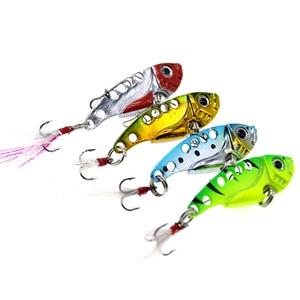 Image 2 - 1pcs 7g/10g fishing lure VIB Vibrations Spoon Lure Bass wobblers artificial bait cicada lure vib bait