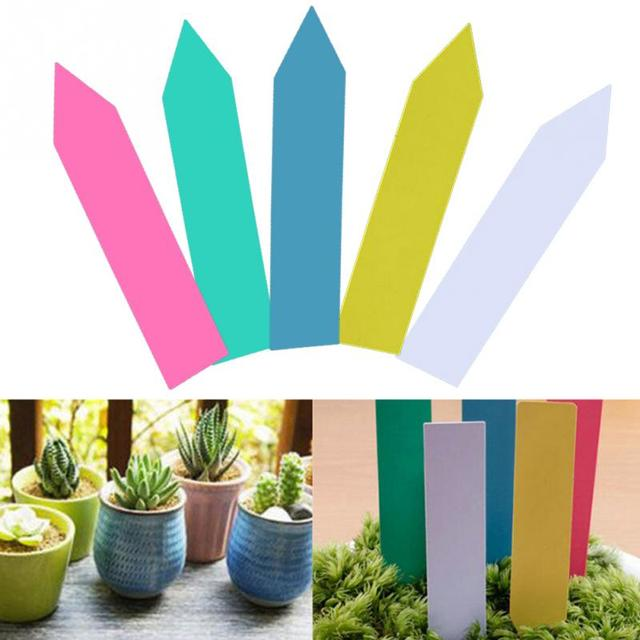 100 Pcs/lot 4 Inch Plant Pot Markers Plastic Garden Stake Tags Nursery  Labels Plant