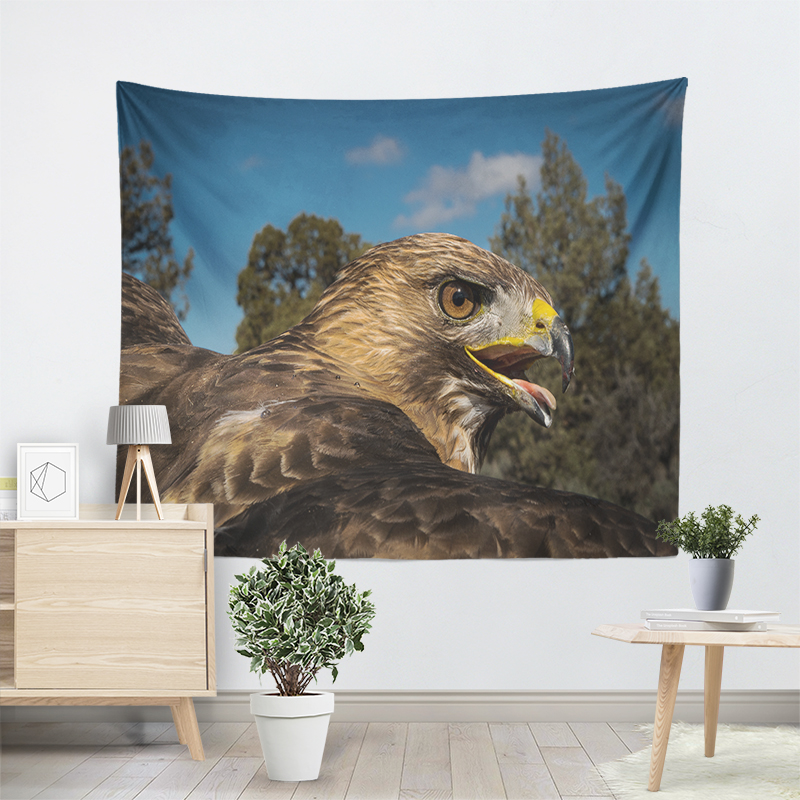 Nature Tapestry Flying Eagle Wildlife Birds Decorative Wall Tapestry Hanging Boho Decor Wall Cloth Psychedelic Animal Tapestries in Tapestry from Home Garden