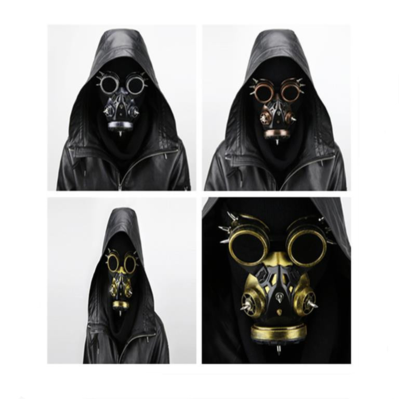 Halloween Cosplay Steampunk Retro Windshield Gas Mask COS Anime Props Gifts For Men And Women