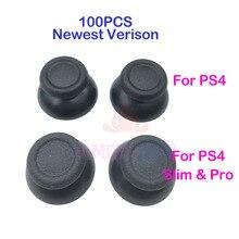 100 adet için yedek PS4 Slim Pro denetleyici Analog Thumbsticks Thumb kavrama kap DualShock 4