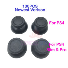 100PCS Replacement  For PS4 Slim Pro Controller Analog Thumbsticks Thumb Grip Cap For DualShock 4