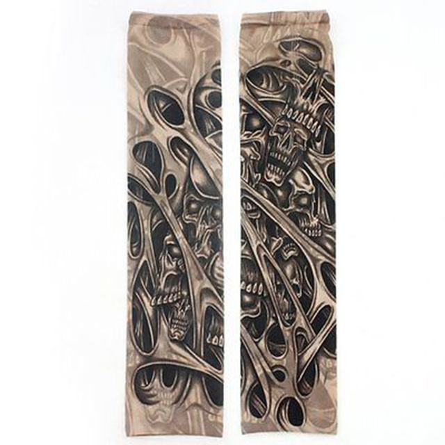 Huation New Fashion Tattoo Sleeves Arm Warmer Unisex UV Protection Outdoor Temporary Fake Tattoo Arm Sleeve Warmer Sleeve Mangas 3