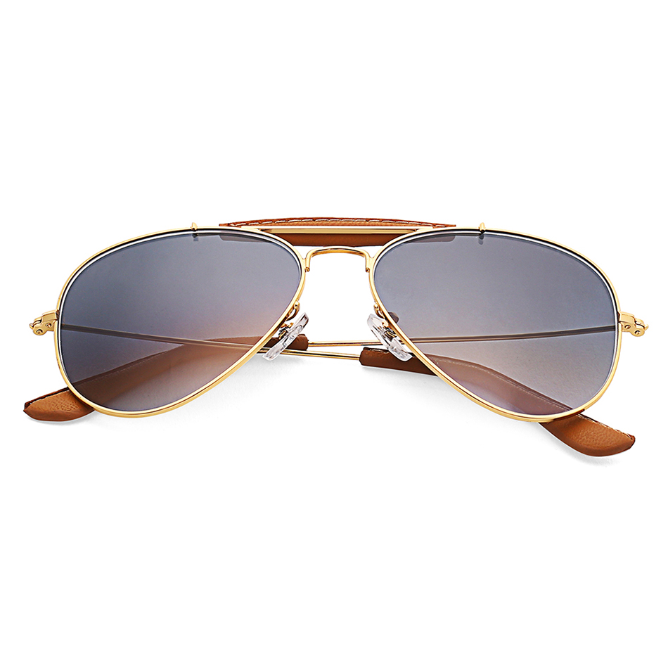 3422 Outdoorsman Craft Sunglasses Women Men 58mm Pilot  Gradient Glass Lens Glasses Mirror Polarized UV400