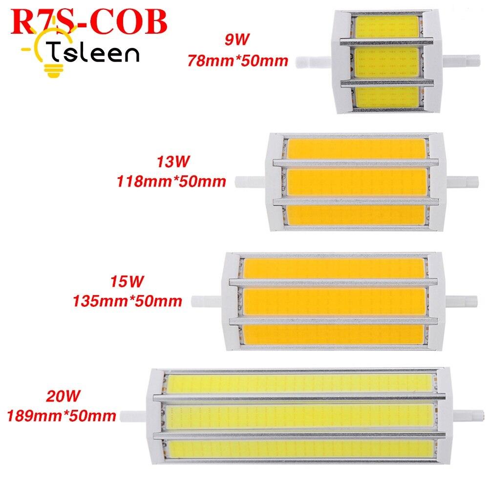 TSLEEN R7S LED Light Bulb 110V 240V 2835 3014 5730 5050 LED Lamp 220V 78 118 135 189mm High Luminarias COB led 180 360 Luces LED