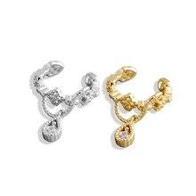 1pc Women Crystal Zircon Water Drop Pendant Ear Cuff Wrap Clip Cartilage Earrings 925 Sterling Silver Fashion Jewelry