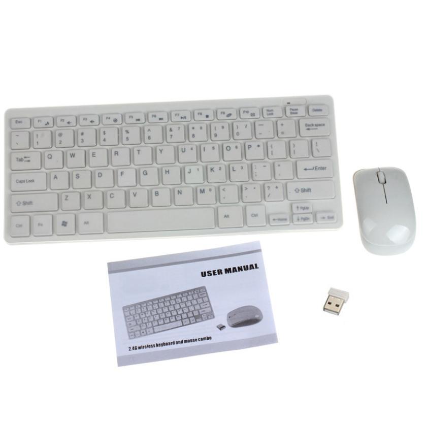 2,4 G traadita arvuti klaviatuur + hiire klaviatuuri membraani kott - Arvuti välisseadmed - Foto 4