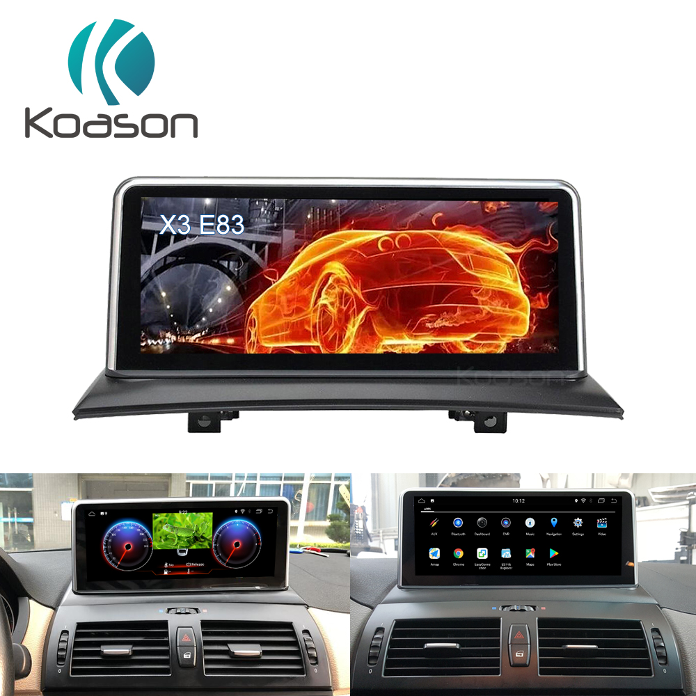 Koason Auto Navigator 10.25 Android 8.1 Car Intelligent System Audio Multimedia Player For BMW X3 E83 Vehicle GPS Navigation