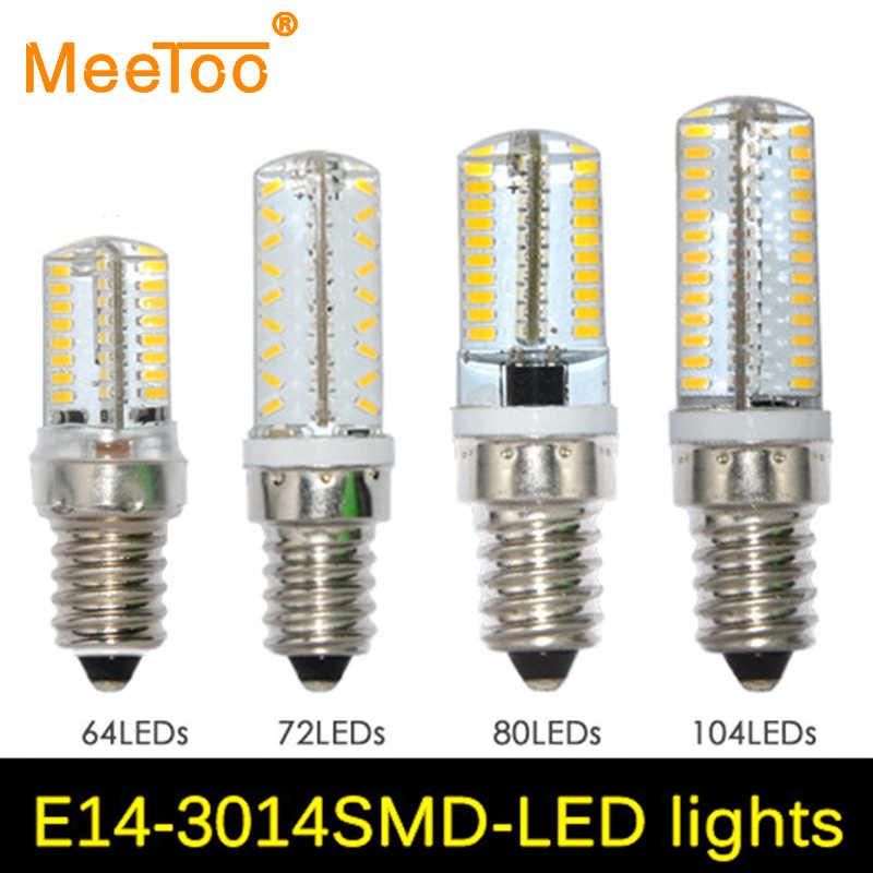 1PCS SMD3014 E14 Led Lamp 220V 64 72 80 104 Bulbs Spotlight Replace 50W to 90W Halogen Lamp Crystal Chandelier Art Led Lighting