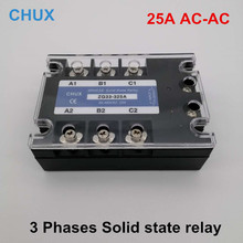 цена на SSR Relay 25a ZG33 325A AC-AC 3 phases SSR 70-280v to 90-480VAC three Phases Solid State Relay