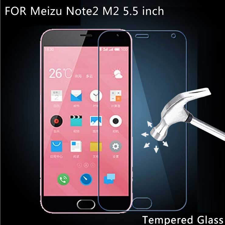 For font b Meizu b font Note 2 M2 Tempered Glass Screen Protector Film Screen Protective