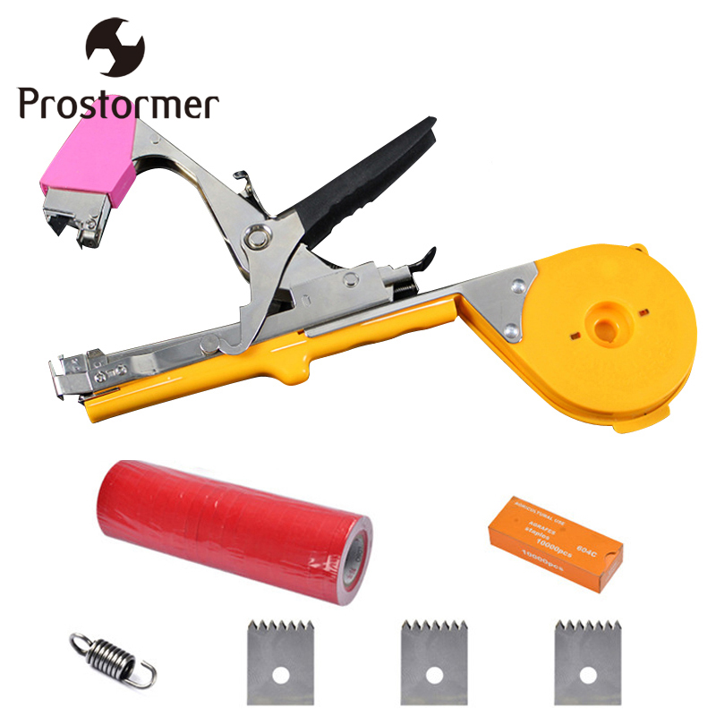 SCHEPPACH Garden Tapener Double Hook Tapetool Grafting Hand Tool Sets Plant Tying Machine Packing Vegetable's Stem Strapping shceppach garden tapetool sets fruit vegetable branches binder non waste taping machine garden tapener tool stem strapping tying