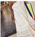 50 unids/lote fedex rápido mujeres libres del envío outwear lace patchwork cardigan de protección solar de aire acondicionado prendas de vestir exteriores
